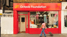 Octavia Foundation charity shop window